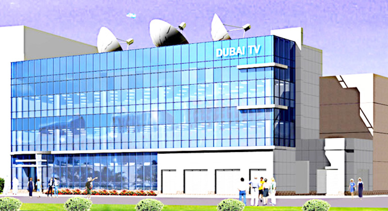 dubai TV newsroom and offices